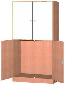 Hochschrank mit 2 Tafeltüren / 2 Drehtüren