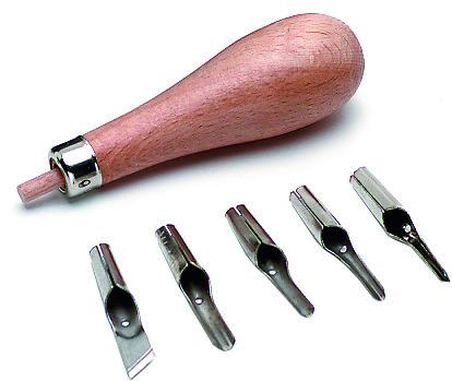 Linolschnitt-Werkzeuggarnitur