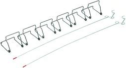 Klemmen-Starterset zu Staubschutztüren