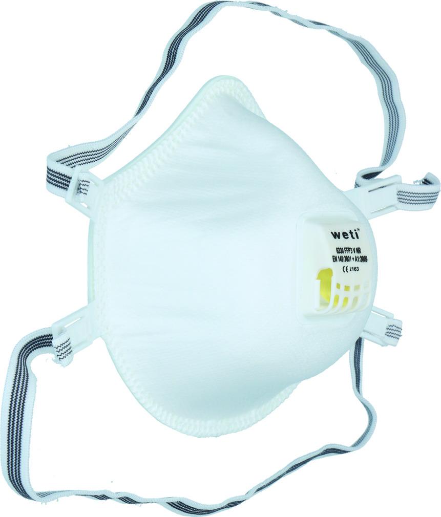 Atemschutzmaske WETI 6330 FFP 3 V NR D