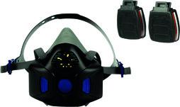 Halbmasken-Set 3M Secure Click HF-802SD mit Sprechmembran