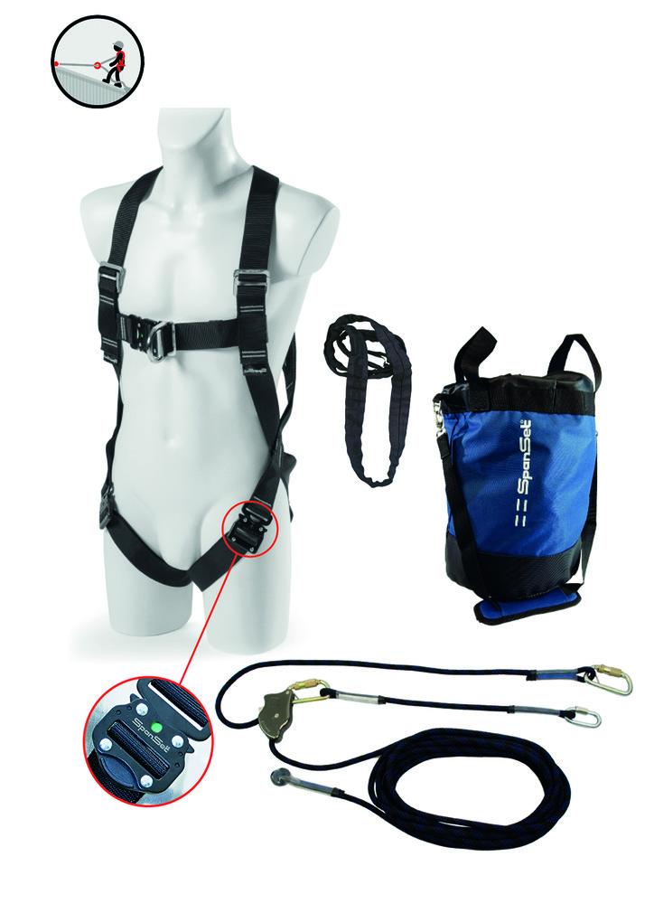 Höhensicherung Safety-Kit SPANSET SK-201/202/203 für Dacharbeiten