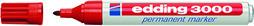 Filzschreiber Permanent Marker edding 3000