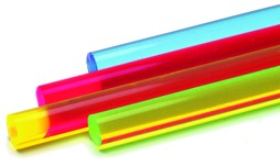 Acrylstäbe farbig fluoreszierend