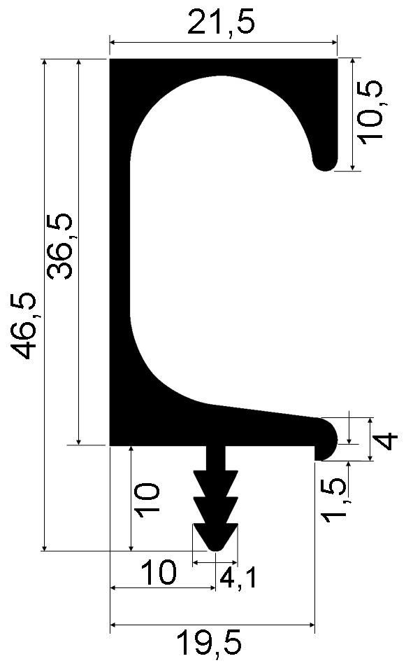 Griffleistenprofile mit Profilhöhe 36,5 mm