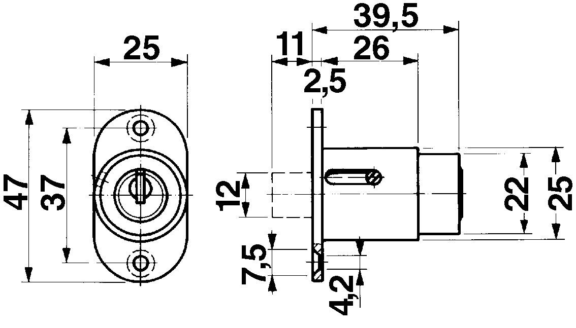 Druckzylinder KABA 8 Typ 1037 D/11