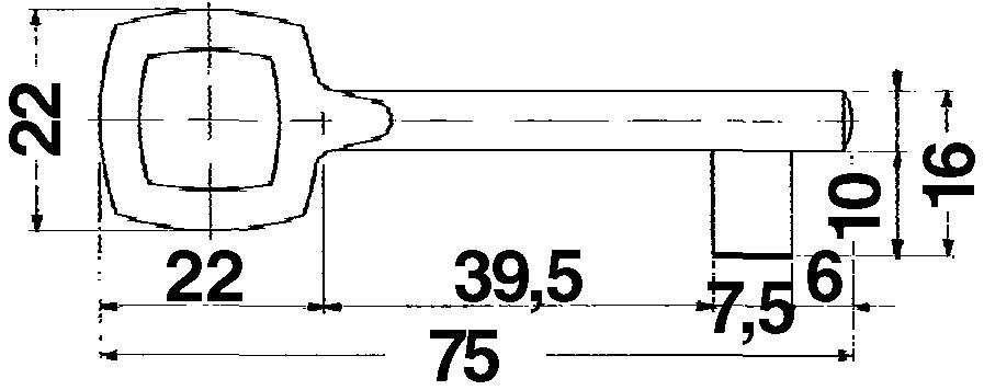 Zifferschlüssel zu Schrankschlösser 2407