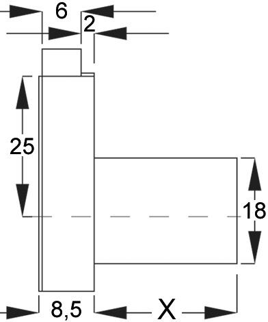 Aufschraub-Riegelschloss WKS - P5000