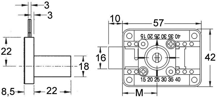 Aufschraub-Riegelschloss FLEX WKS - P 5000 mit Zylinderkern