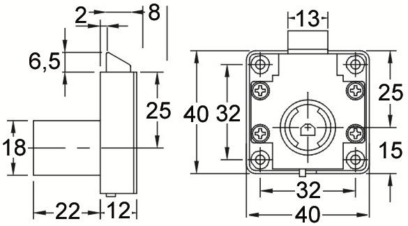 Aufschraub-Fallenschlösser WKS - P5000