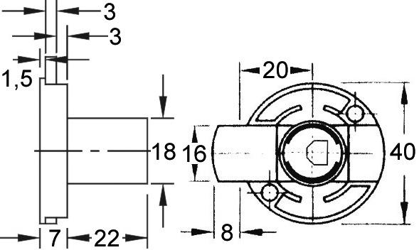 Riegelschloss WKS - P5000