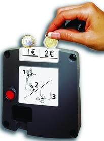 Münzpfandschloss Safe-O-Mat twin-coin