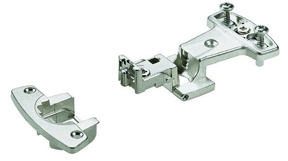 Einachs-Topfbänder HETTICH Selekta Pro 2000, Türauflage 11 mm, Eckband, Rolle bündig