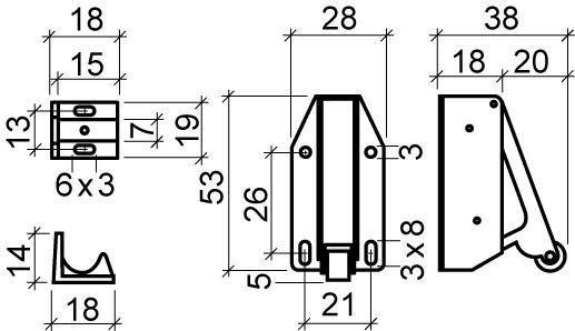 Automatische Druck-Rollschnäpper TIP-LATCH