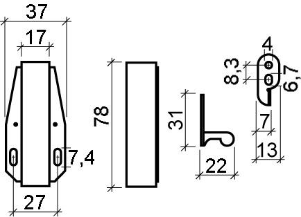Automatische Druck-Rollschnäpper TOUCH-LATCH