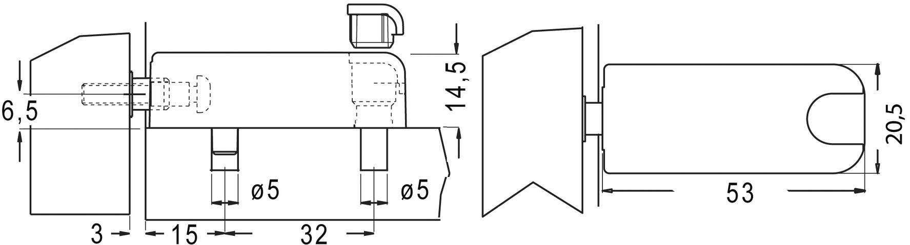 Automatische Druck-Schnäpper Click für grifflose Möbeltüren