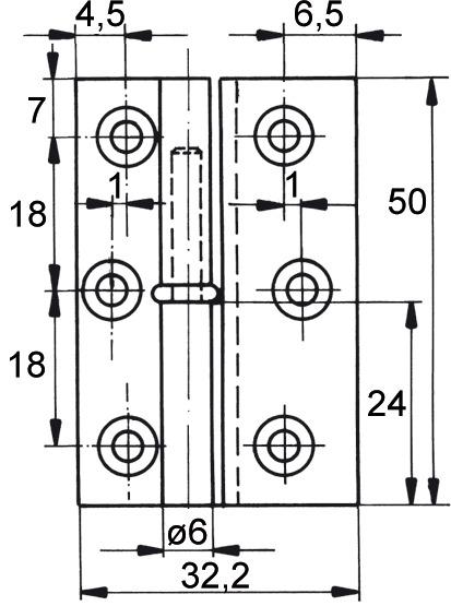 Möbelbänder FS, Rollendurchmesser 6 mm