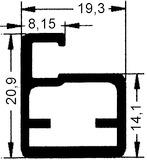 20 mm Schmale Glasrahmentüren ohne Verglasung, Steg 8 mm