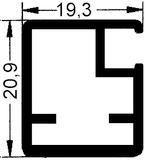 20 mm Schmale Glasrahmentüren ohne Verglasung, Steg 20 mm