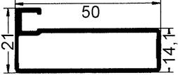 50 mm Breite Glasrahmentüren ohne Verglasung, Steg 7 mm
