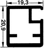 20 mm Schmale Glasrahmentüren mit/ohne Verglasung, Steg 20 mm