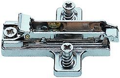 Kreuzmontageplatten SALICE für Topfbänder mit vormontierten Euroschrauben, Eckmontage, zum Anschrauben