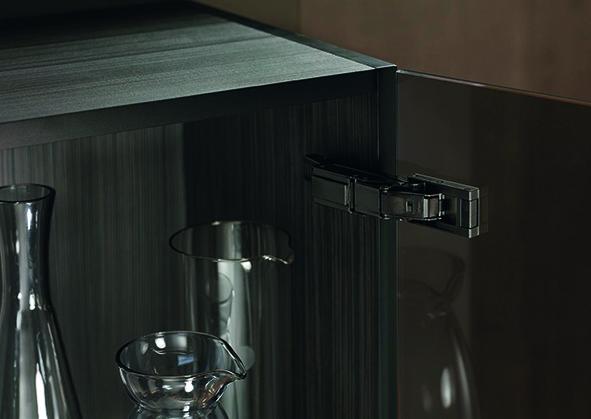 Topfband BLUM CLIP top BLUMOTION CRISTALLO für Glas- und Spiegeltüren und Glasvitrinen
