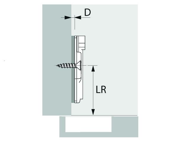 Kreuzmontageplatte HETTICH Sensys/Intermat
