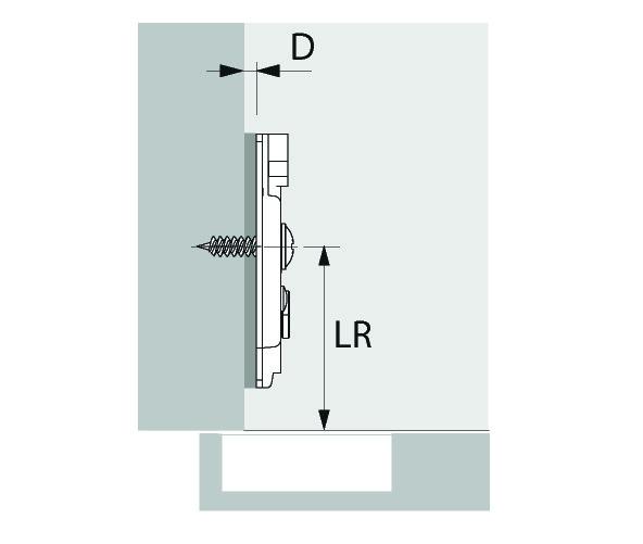 Kreuzmontageplatten HETTICH Sensys/Intermat 8099, Eckmontage