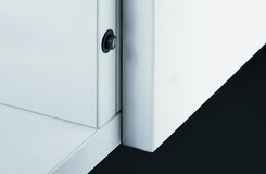 Push-to-open Lock, zum Einbohren