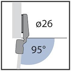 Schnellmontage-Topfbänder HETTICH Intermat für Glastüren