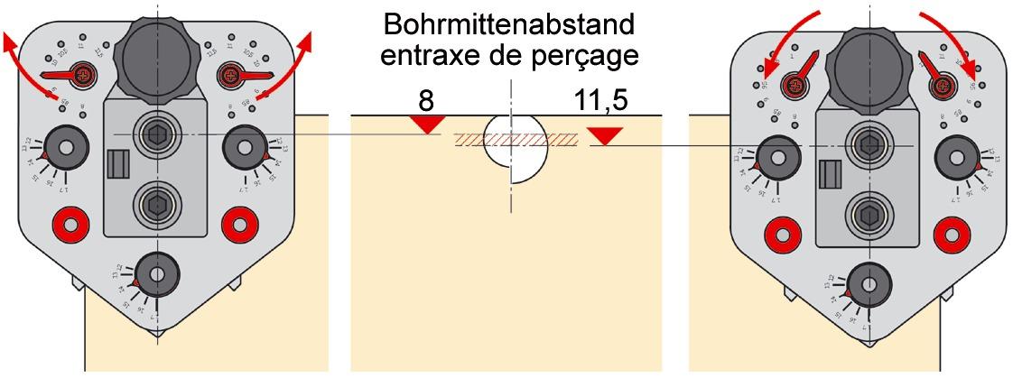 Bohrlehre HETTICH Drill-Jig VB