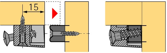 Trapez-Verbindungsbeschlag HETTICH TZ 4