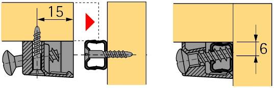 Trapez-Verbindungsbeschlag HETTICH TZ 4 TD