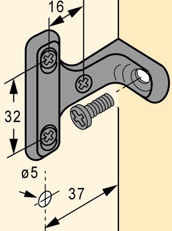 Rückwandverbinder HETTICH RV 7-D