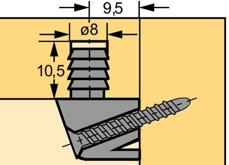 Trapez-Verbindungsbeschlag HETTICH TZ 28