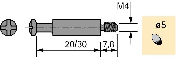 Einschraubdübel DU 425 / DU 428