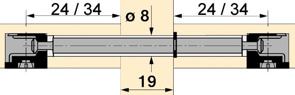 Doppeldübel zu HETTICH Rastex 15