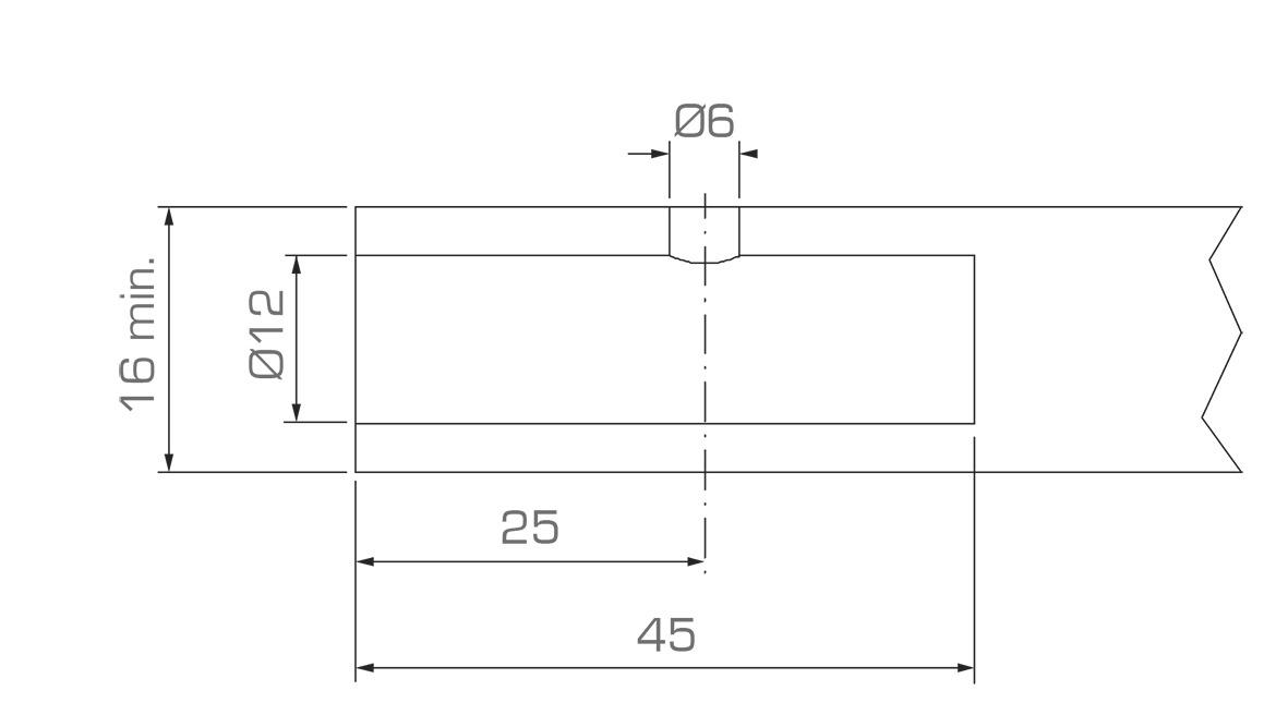 Unsichtbare Horizontalverbinder Roto