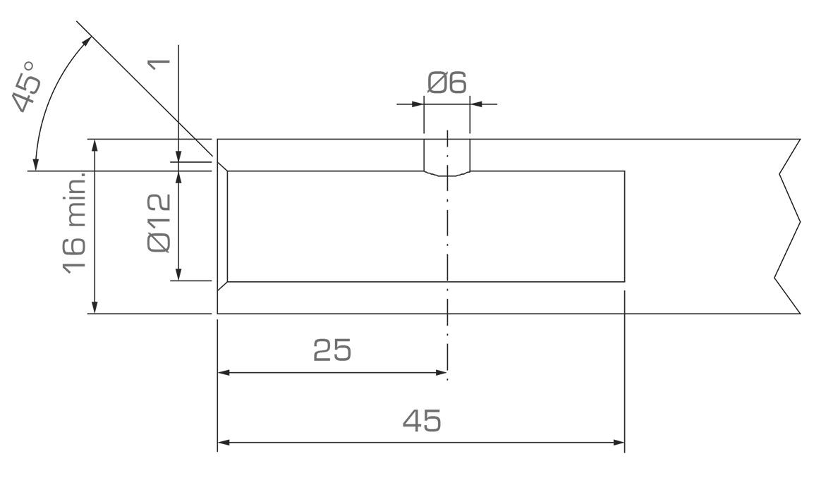 Unsichtbarer Vertikalverbinder/Bodenträger Vertigo