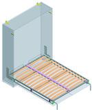 Schrankbettsystem Doppelbett längs Dynamic