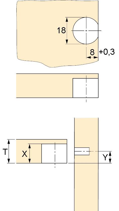 Tablarverbinder HETTICH Toolex VB 54