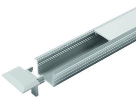 LED Einbauprofil HALEMEIER Versa ChannelLine B 26/1.5 mm mit Lichtblende