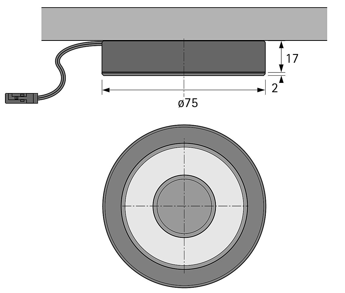 LED Ein-/Anbauleuchten HALEMEIER S-Flat 12 V