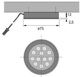 LED Ein-/Anbauleuchten HALEMEIER Sign Plus 12 V