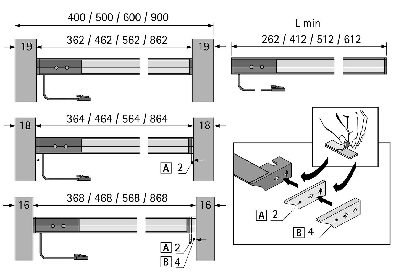 LED Anbauleuchten HALEMEIER InnoLine Plus 12 V