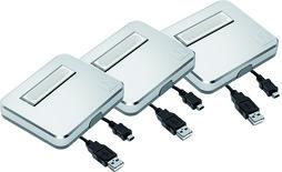 LED-Anbauleuchten 3er-Set AlphaLite