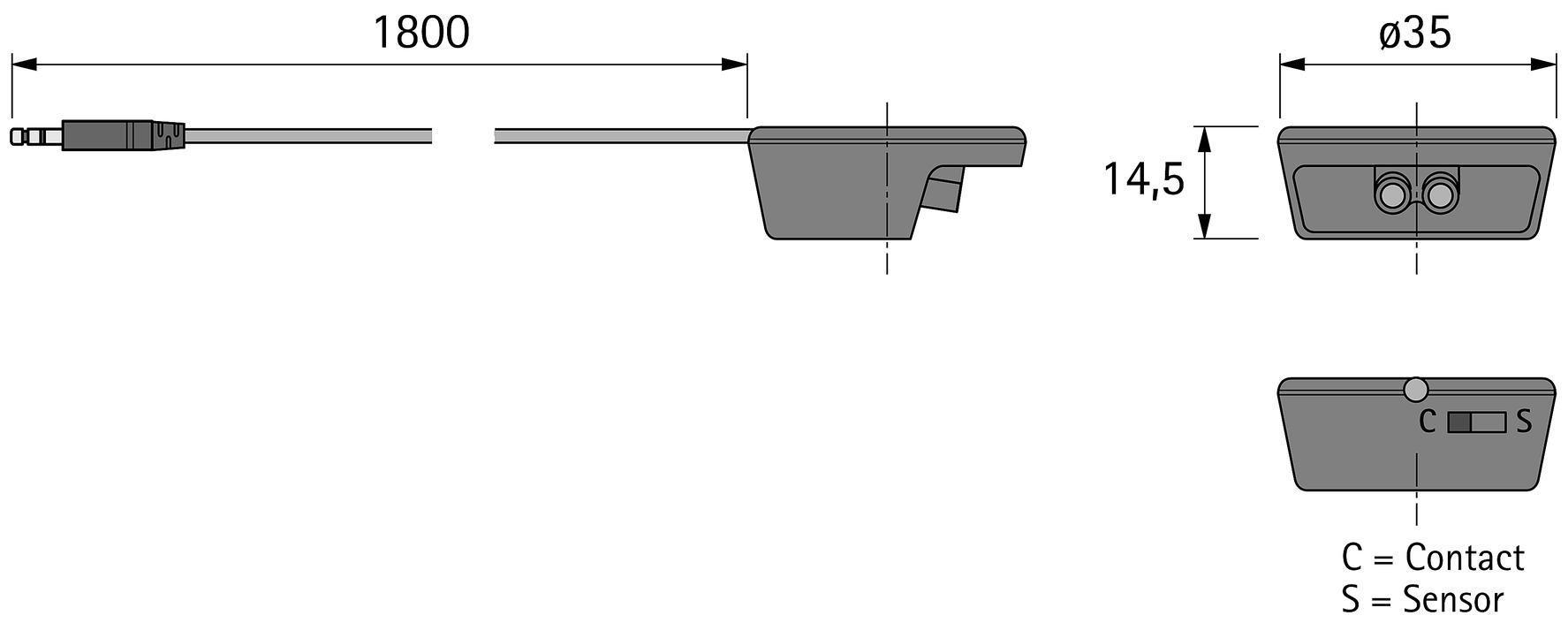 IR-Türkontaktsensoren HALEMEIER MultiSwitch 12 / 24 / 230 V