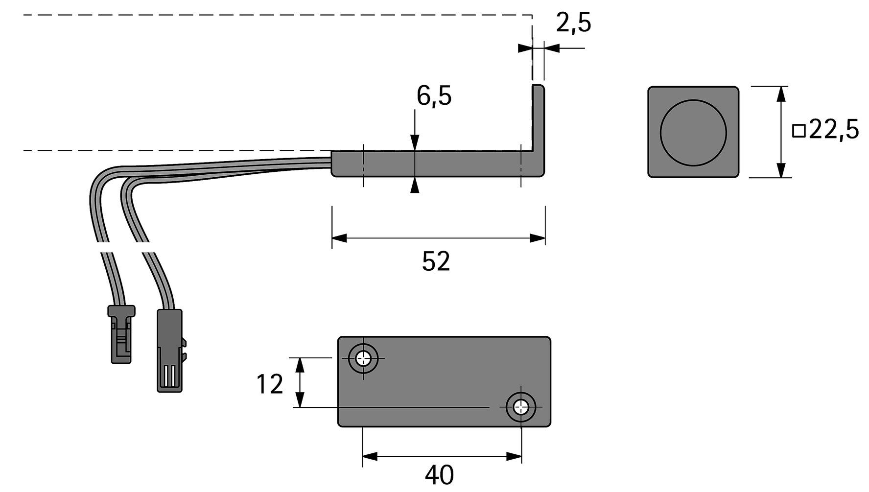 Berührungs-Dimmschalter HALEMEIER Anbau 12 V