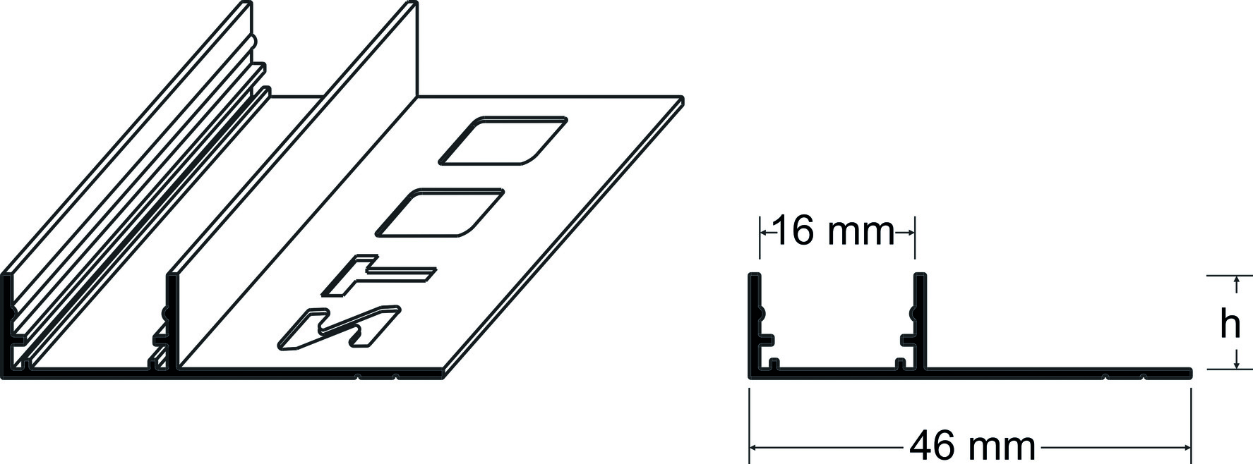 LED U-Profile mit Verfliesungsschenkel
